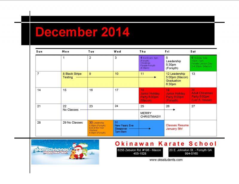 okinawan karate school homework
